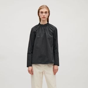 COS | Black Blouse Gathered Neckline